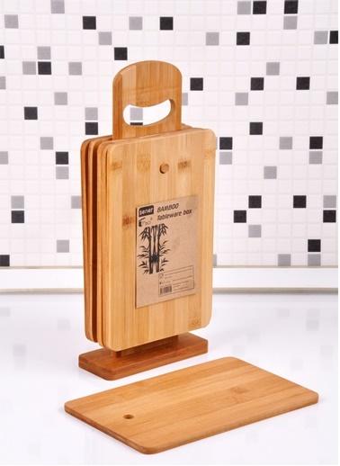 Bambu Standlı 6`lı Kesme Panosu-Bayev